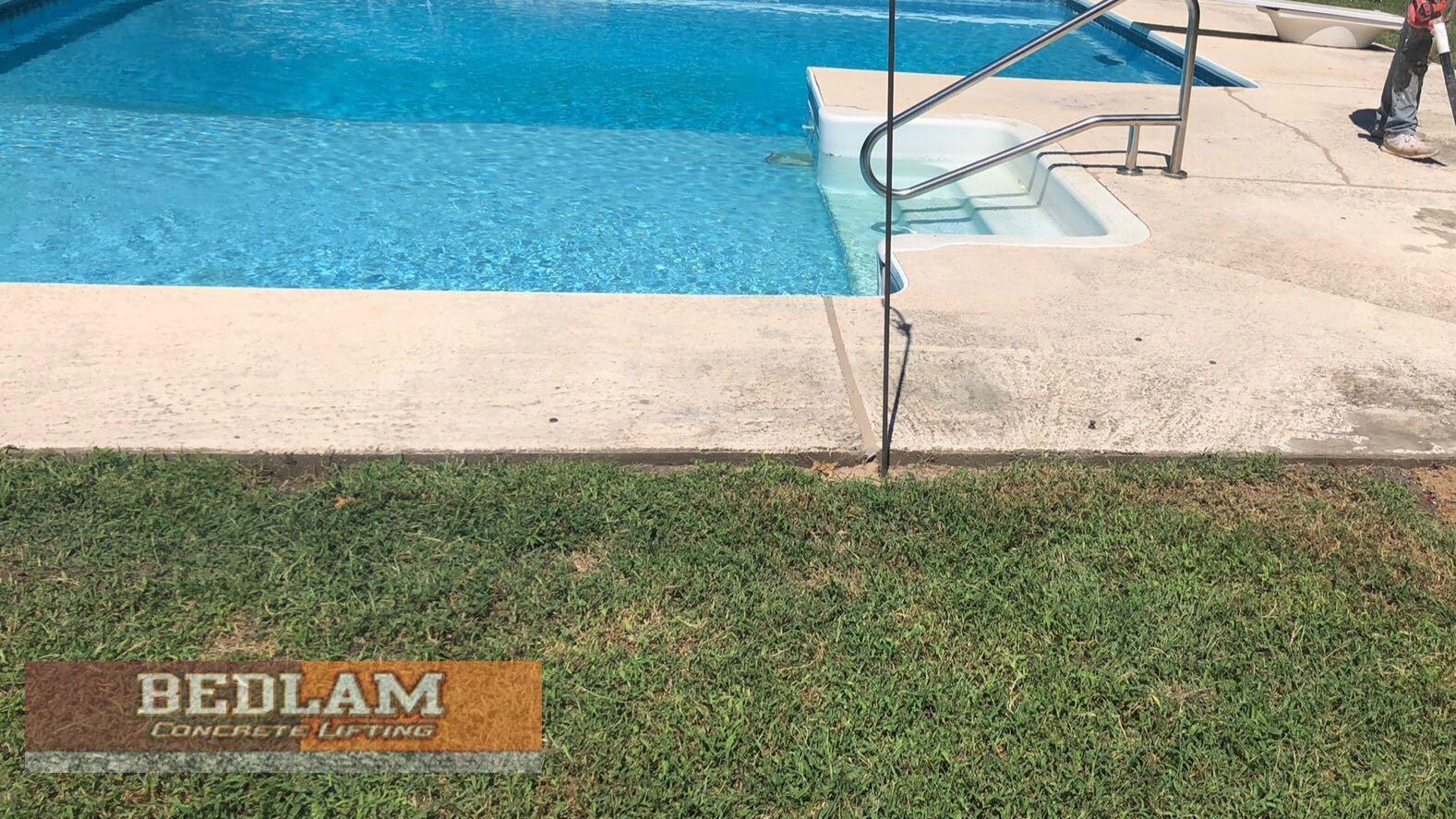 Sinking Pool Deck Repair in Owasso, Ok - After Photo