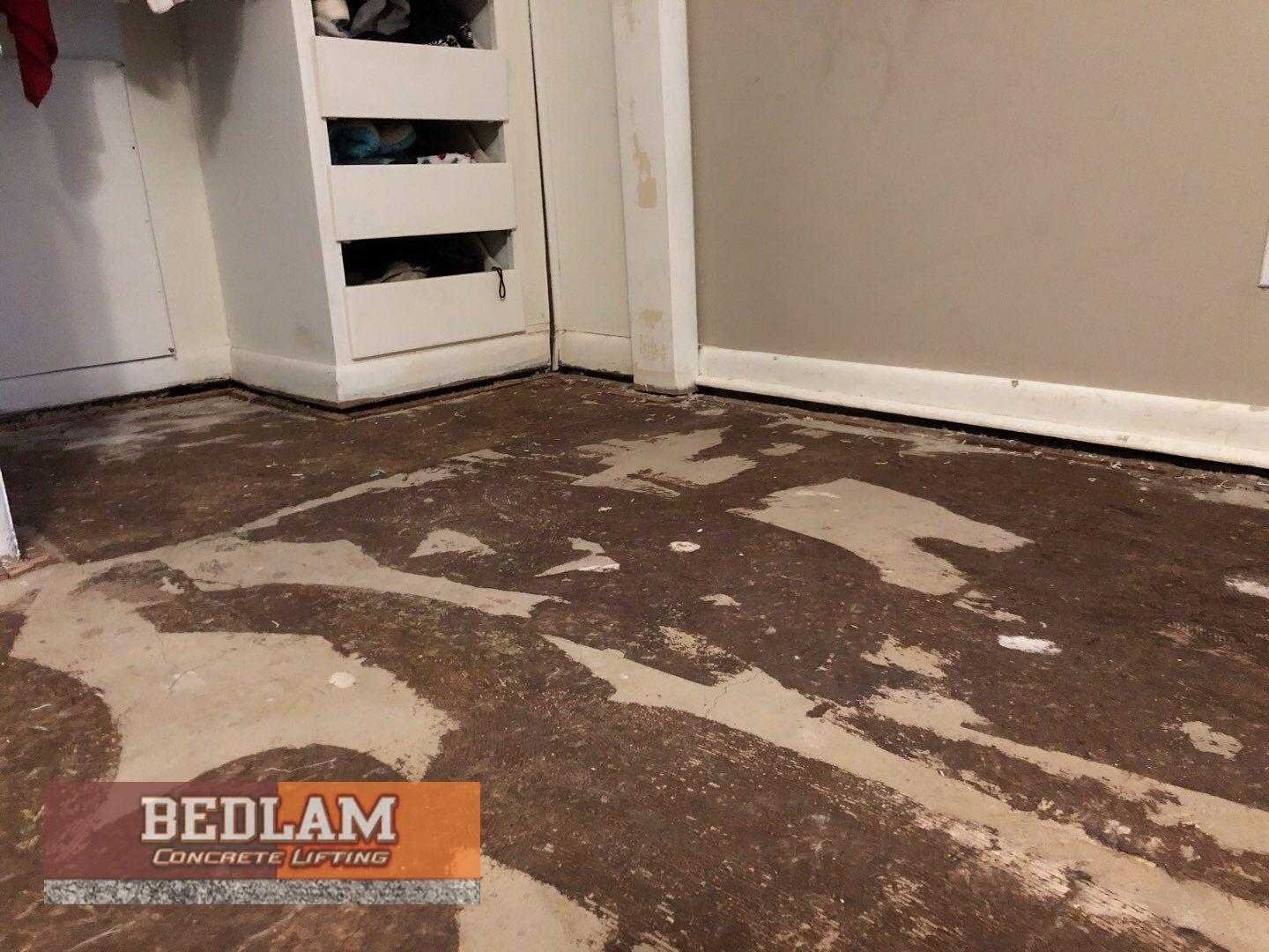 Interior Concrete Leveling in Blackwell, Ok - Before Photo