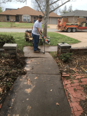 Mudjacking Concrete Repair in Stillwater, OK