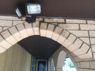 Brick Repair with PolyLevel in Lahoma, Oklahoma