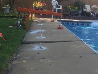Before & After Concrete Leveling-Pool Deck PolyLevel Repair in Ponca City, Oklahoma - Before Photo