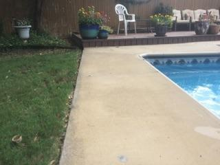 Before & After Concrete Leveling-Pool Deck PolyLevel Repair in Ponca City, Oklahoma