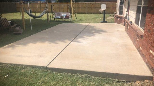 Patio Repair using Polylevel in Owasso, Ok