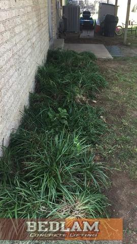 Flower Beds After Push Pier Installation in Fairfax, Ok
