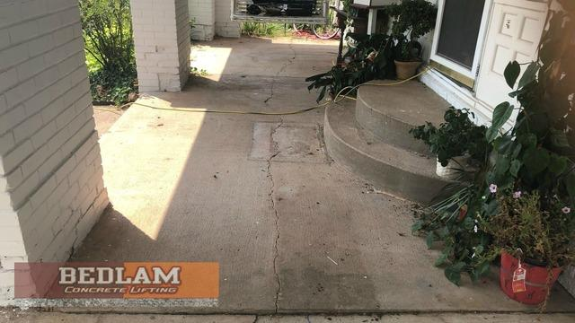 Sidewalk Repaired by Polylevel in Hominy, Ok