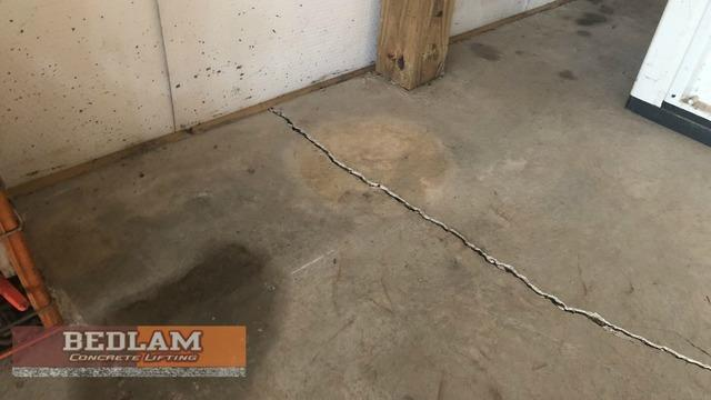 Garage Floor Repair in Ponca City - Before Photo
