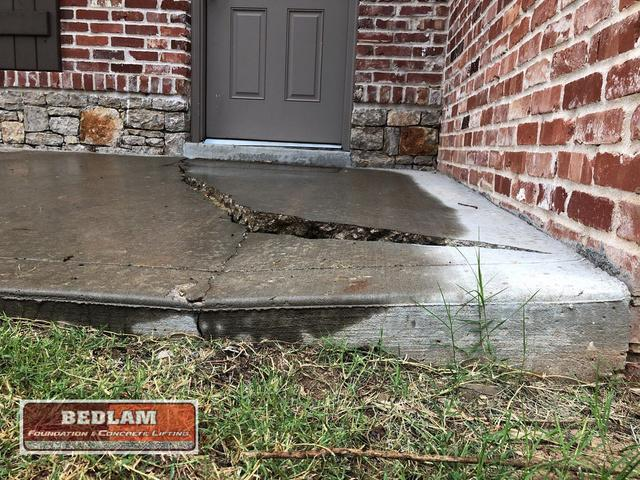 Entrance Way Concrete Repair in Bixby, OK