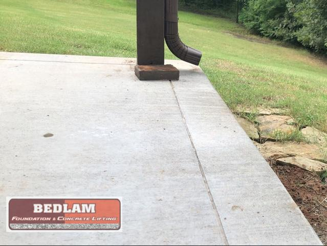 Tilting Patio Repair in Bixby, OK