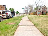 Concrete Slab Lifting for a Sidewalk in Bartlesville, OK
