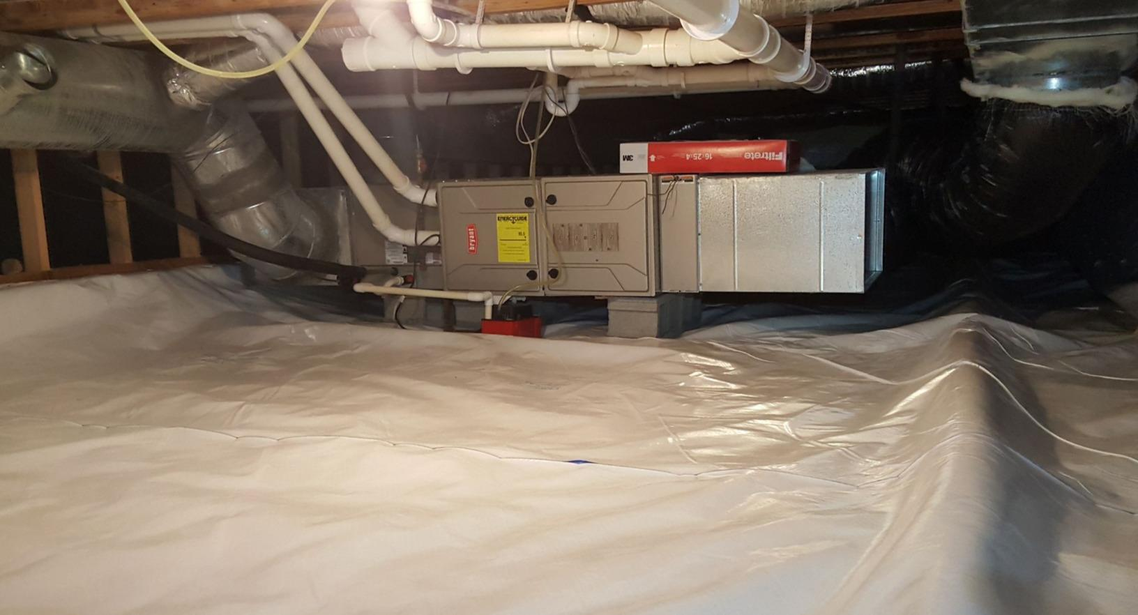 Waterproofing a Crawlspace in Helena, MT - After Photo