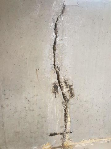 FlexiSpan Foundation Crack Repair System in Billings, MT Home - Before Photo