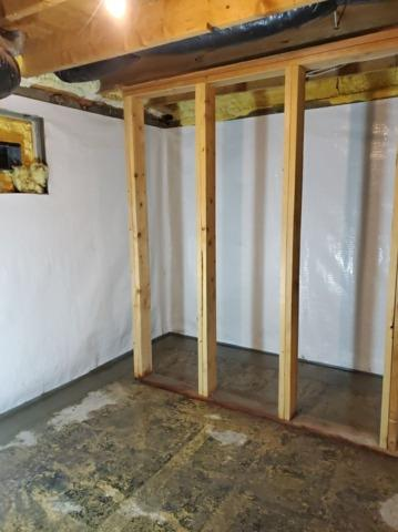 Waterproofing, Vapor Barrier, and Sump Pump Installation in Ennis, MT - After Photo