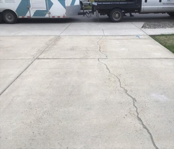 Repairing a concrete driveway in Belgrade, MT - After Photo