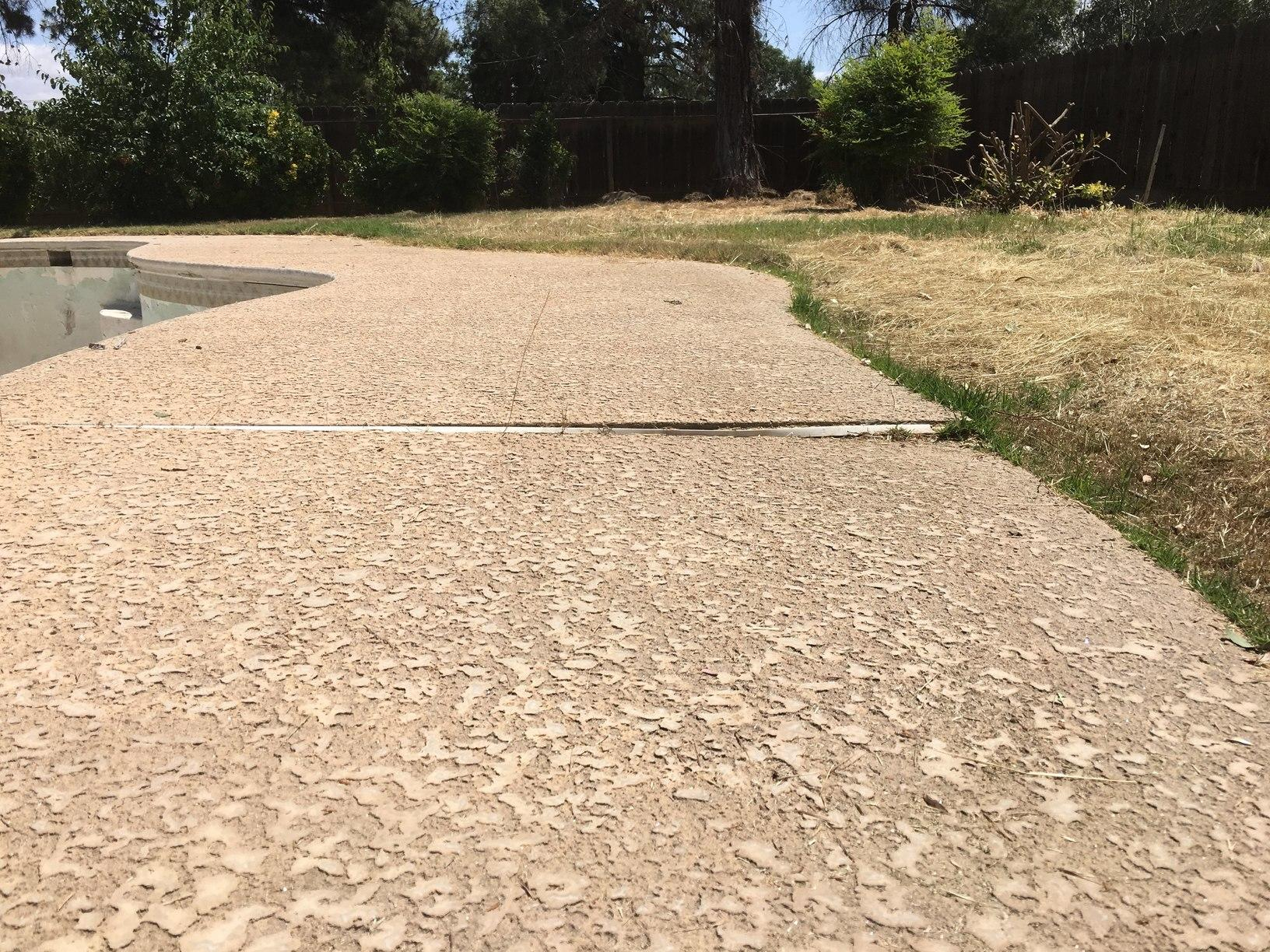 Sunken Pool in Clovis, CA - Before Photo