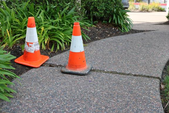 Repairing tripping hazards at a business park