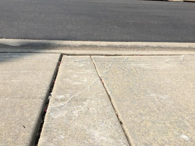 Driveway PolyLevel Lift in Roseville, CA - Before Photo