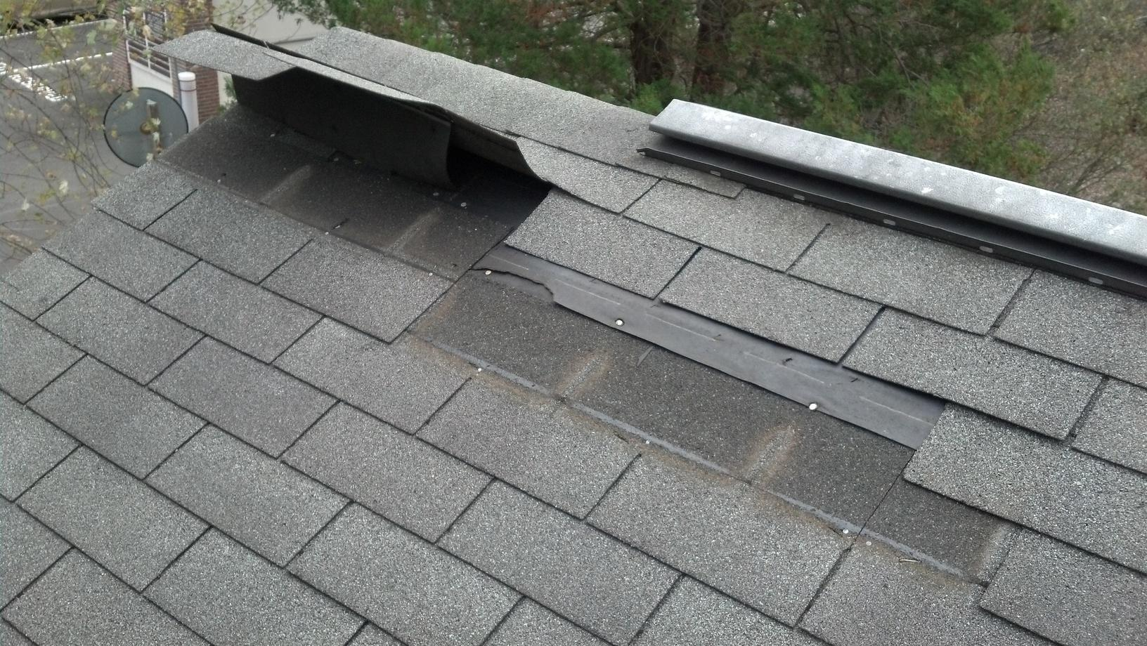 Roof Repair in Fairfield and New Haven Counties : Post Storm Sandy - Before Photo