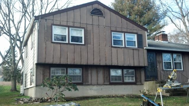 Vinyl Siding Installation in Fairfield, CT - Before Photo