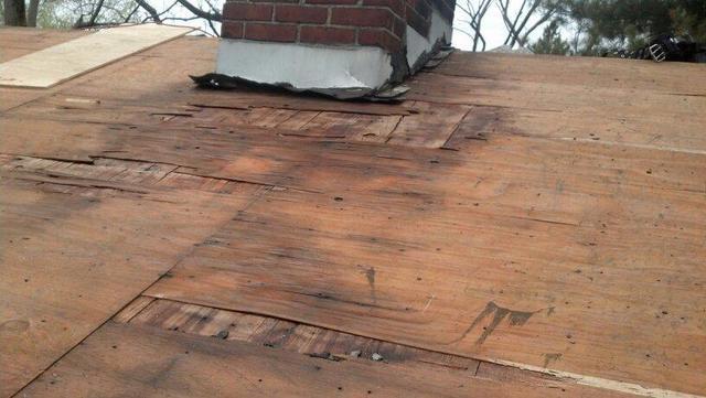 Roof Repair in Branford, CT - Before Photo