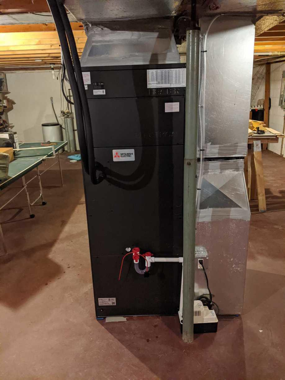 Air Source Heat Pump for Ithaca, NY Customer - After Photo