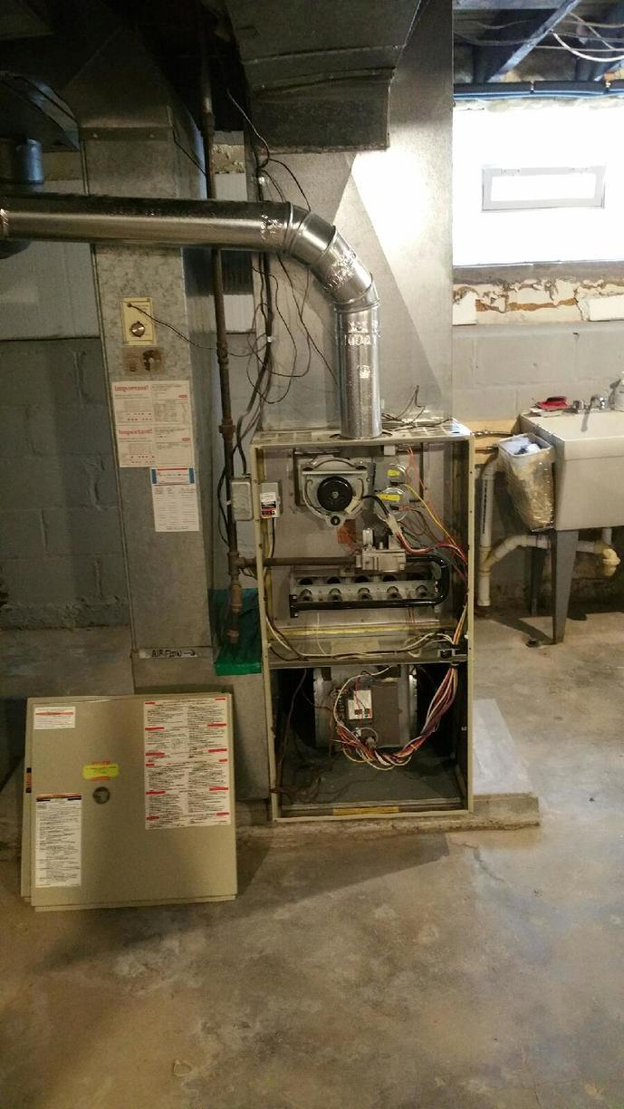 Furnace Installation in Rochester, NY - Before Photo
