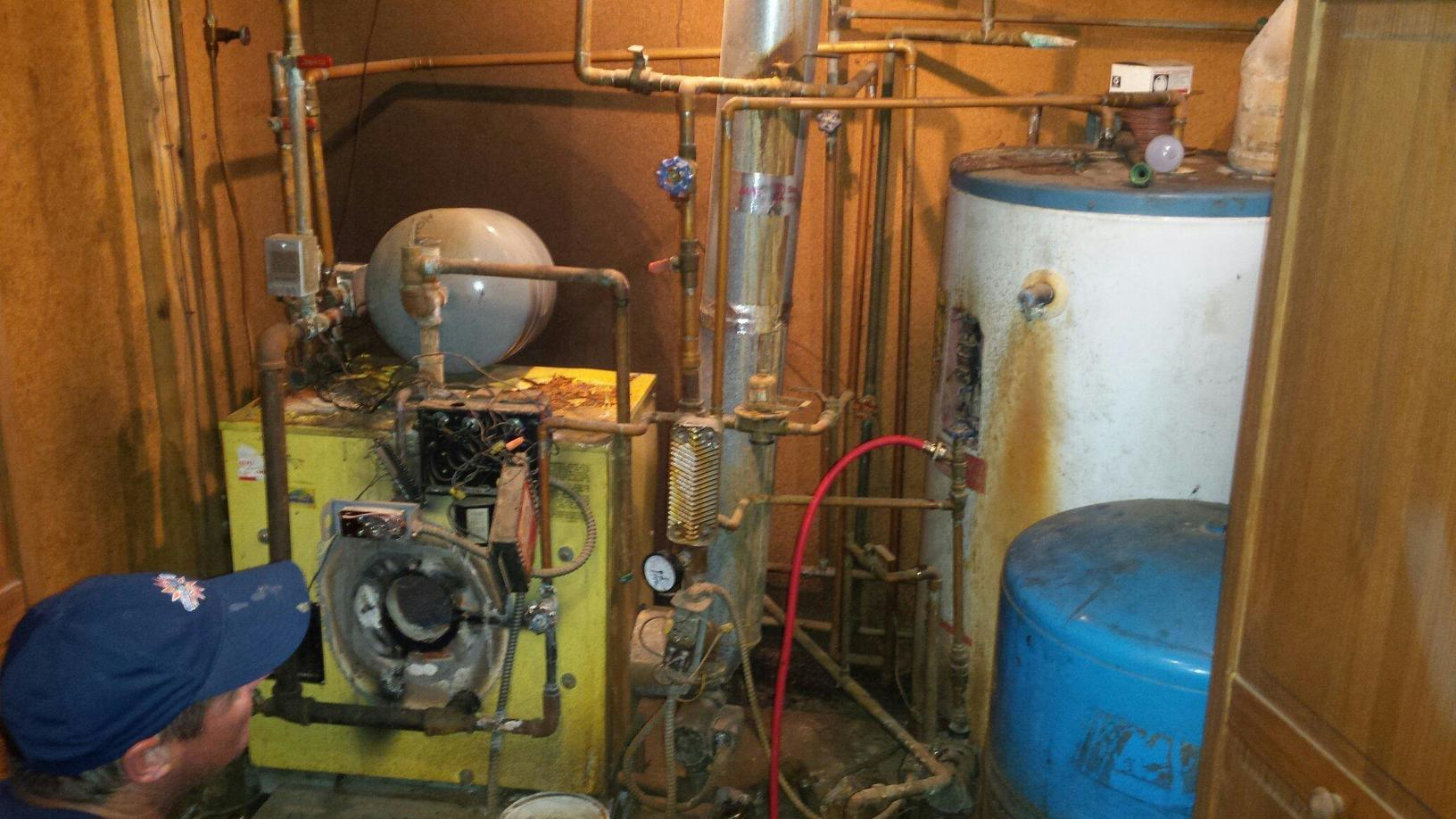 New Boiler and Water Heater in Canandaigua, NY - Before Photo