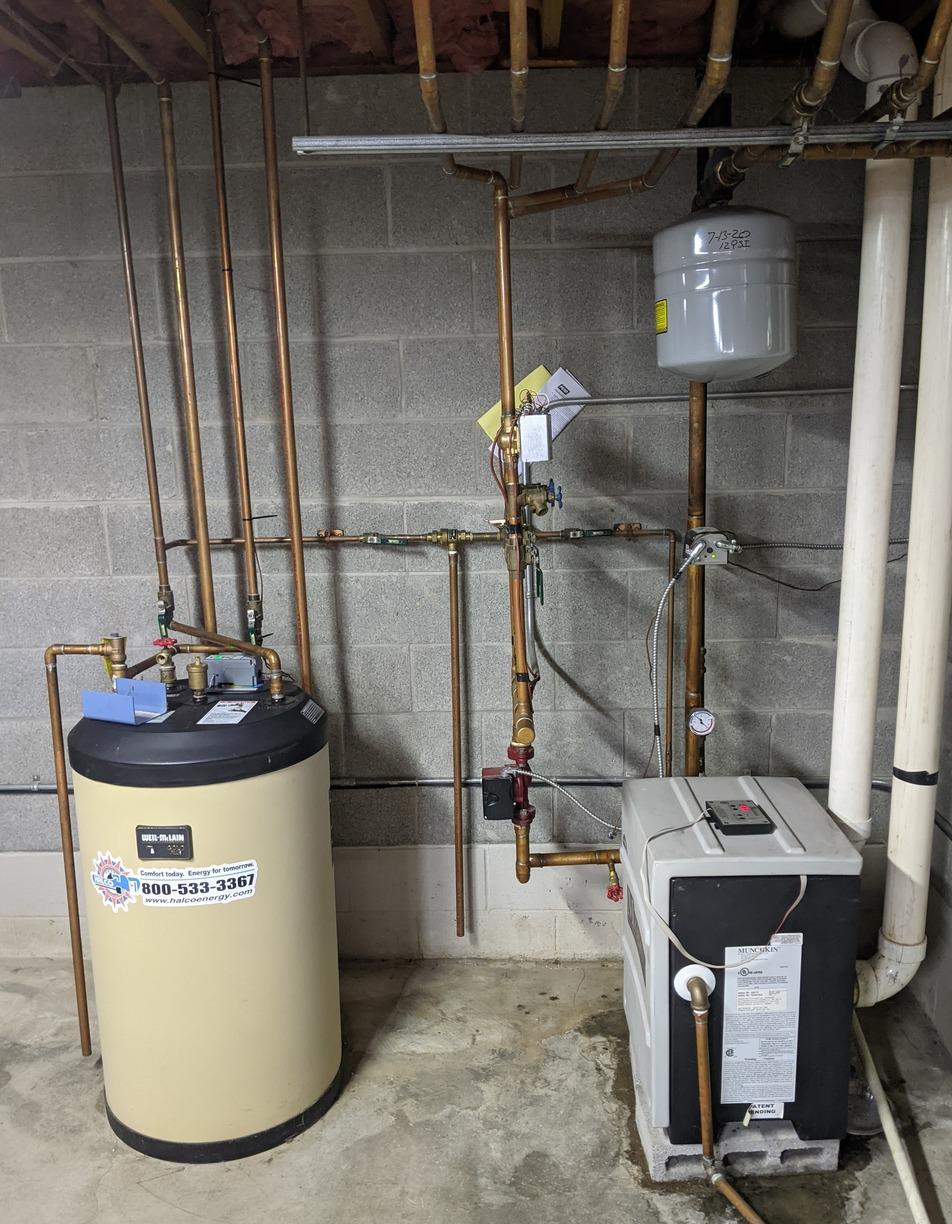 Navien Combi Installation in Ithaca, NY - Before Photo
