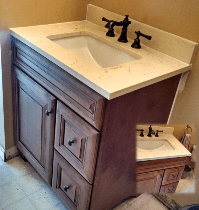 Vanity and Faucet Replacement in Phelps, NY - After Photo