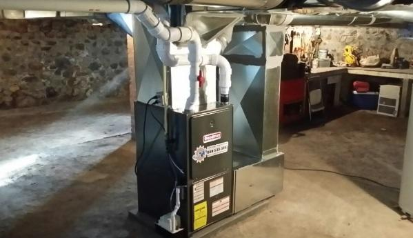 New Furnace Installation in Lyons, New York - After Photo