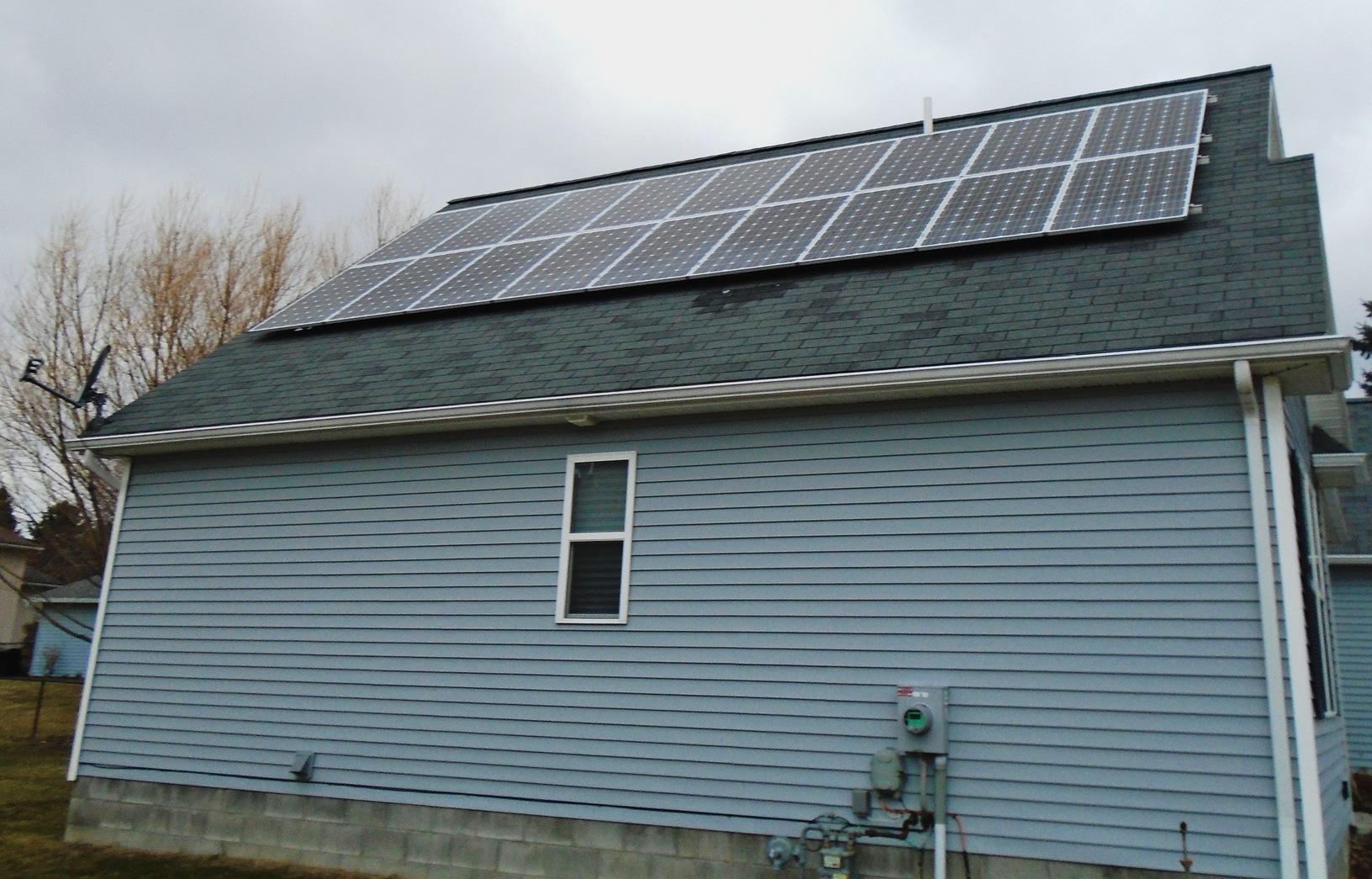 Solar Installation in Canandaigua, NY - After Photo