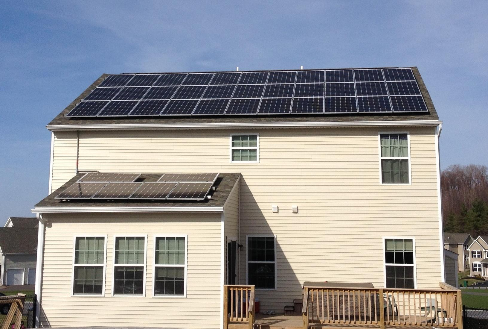 Solar Electric System in Jamesville, NY - After Photo