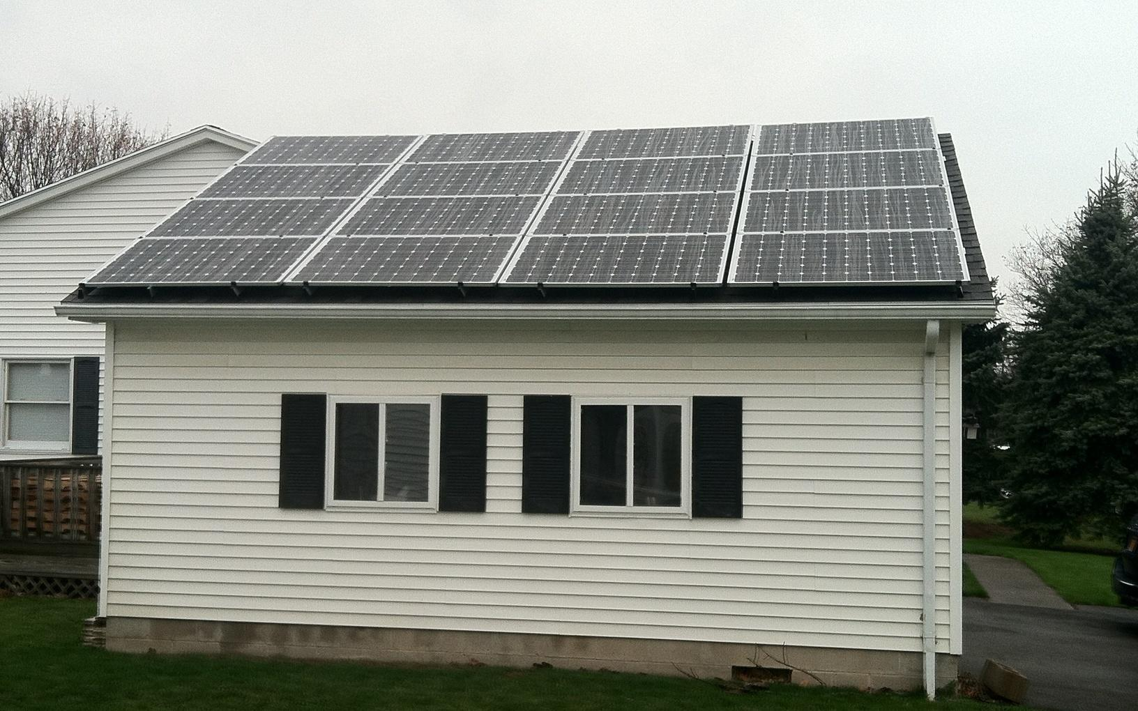 Solar Electric System in Canandaigua, NY  - After Photo