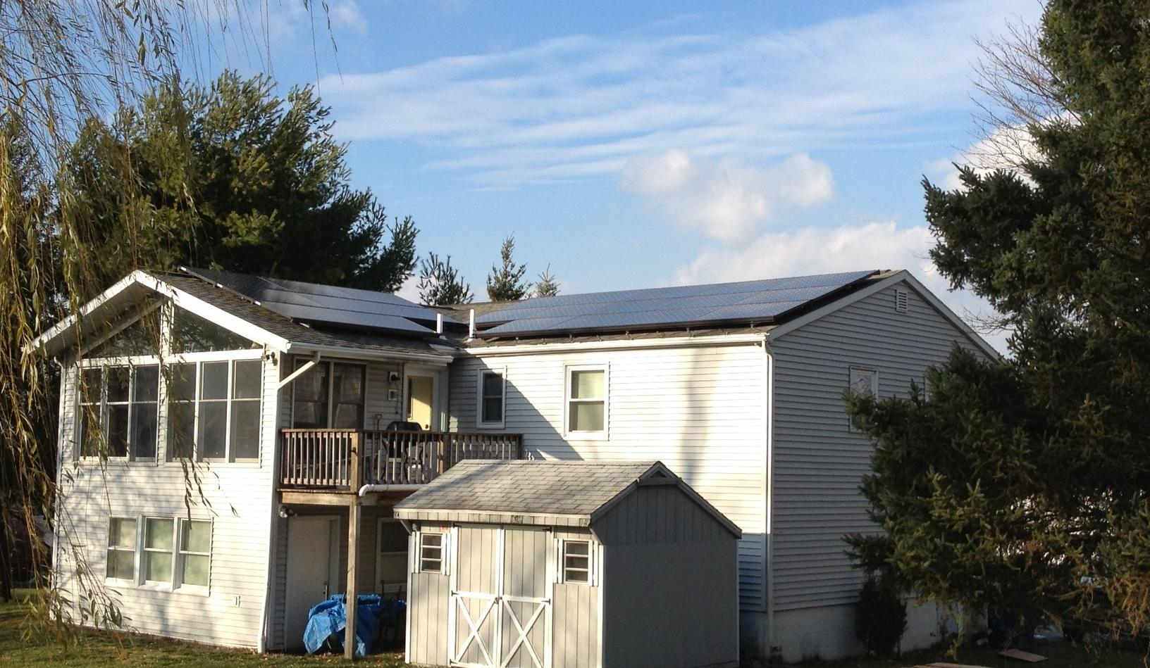 Newark, NY Cusomter Goes Solar - After Photo