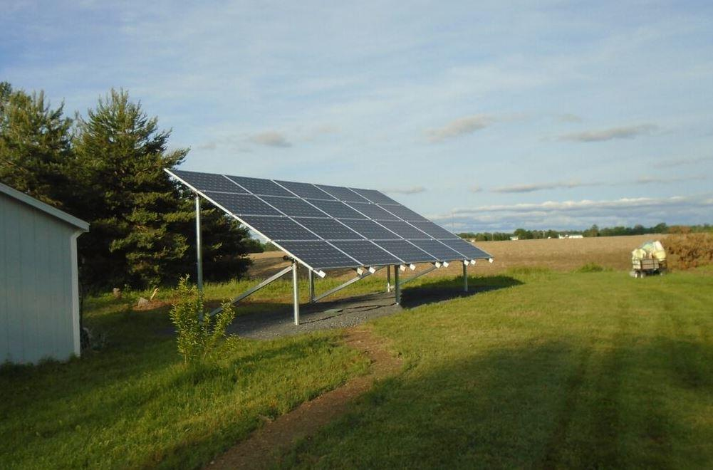 Ground-Mounted Solar Installation in Waterloo, NY - After Photo