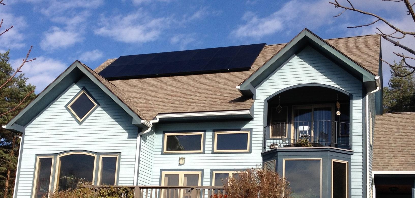 Solar Installation in Ithaca, NY - After Photo
