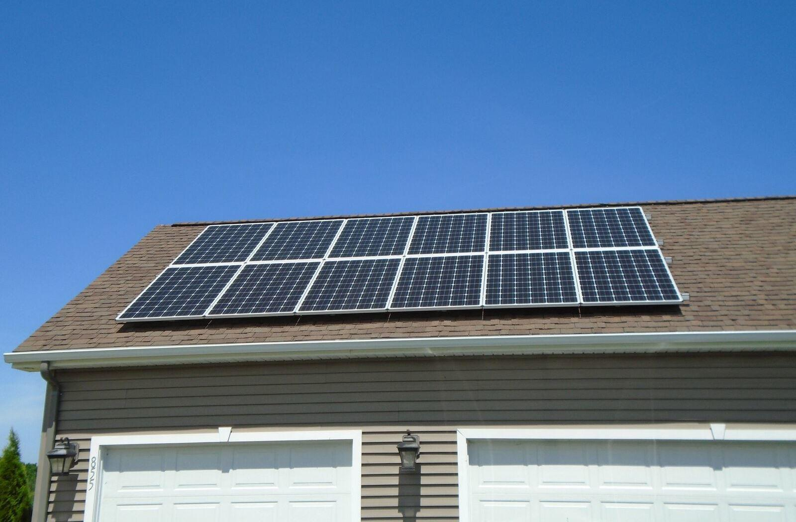 Roof-Mounted Solar Array in Cayuga, NY - After Photo
