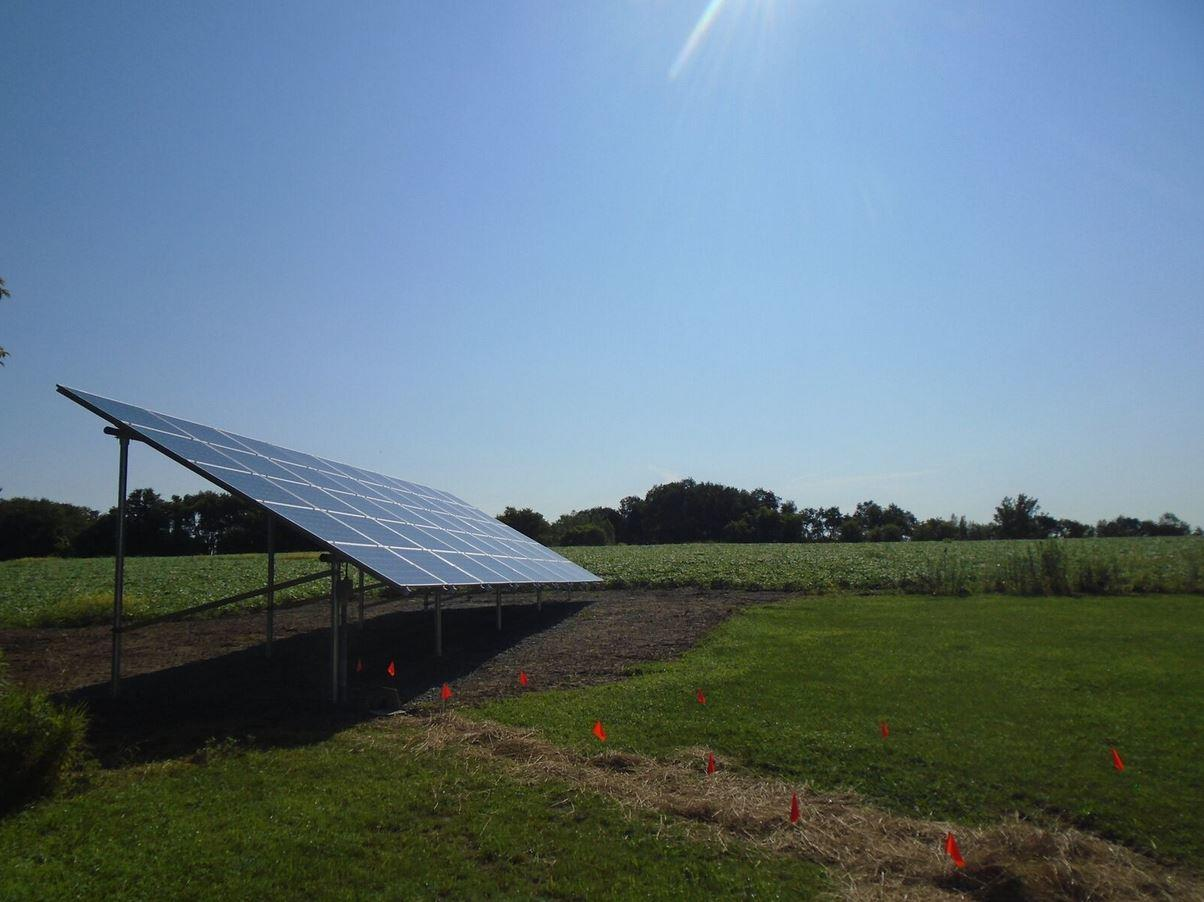 Ground-Mounted Solar Install in Cortland, NY - After Photo