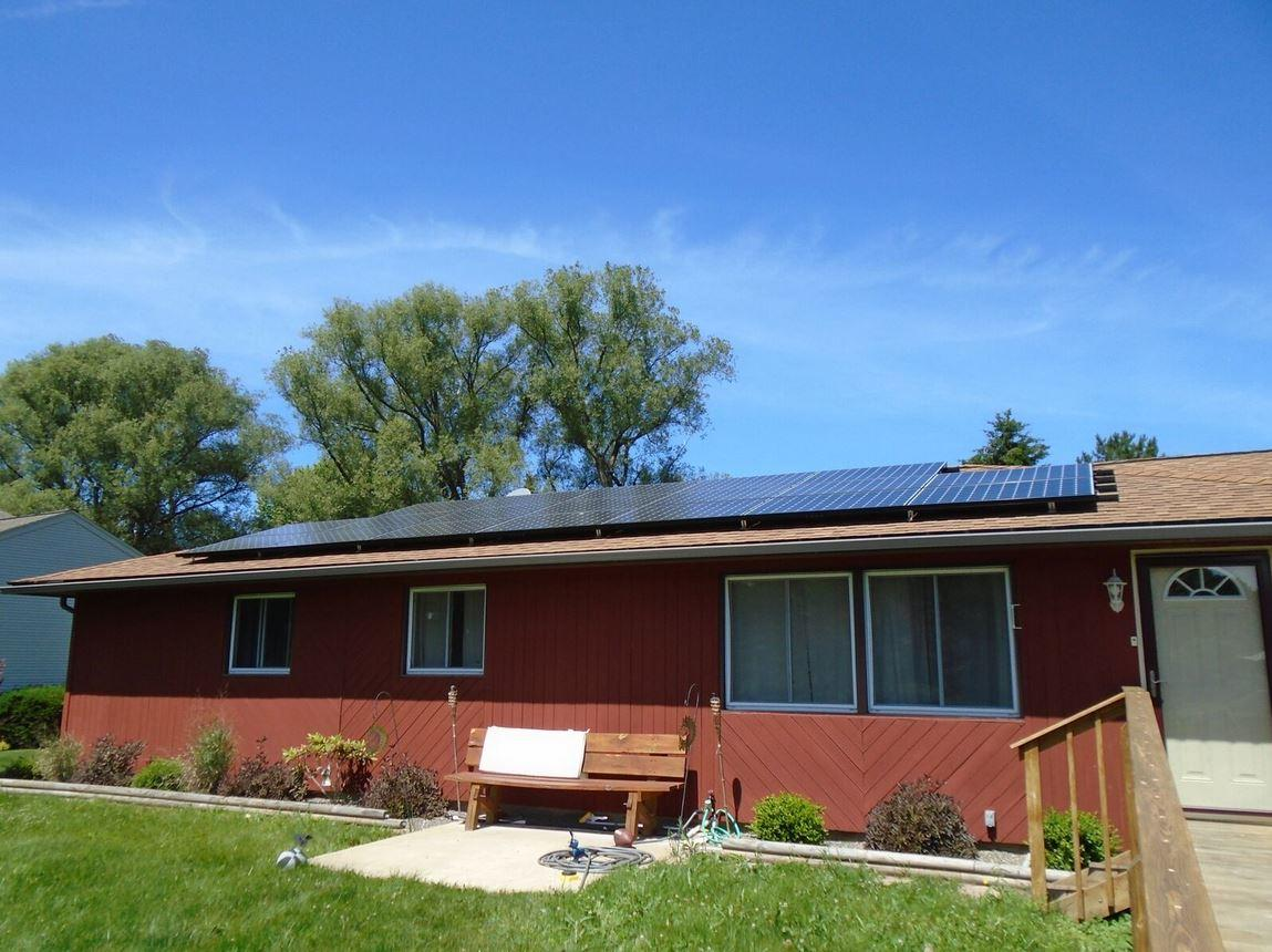 Roof-Mounted Solar Array in Fairport, NY - After Photo