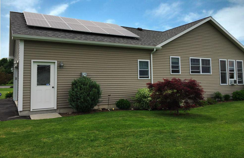 Cortland, NY Couple Goes Green with Solar  - After Photo