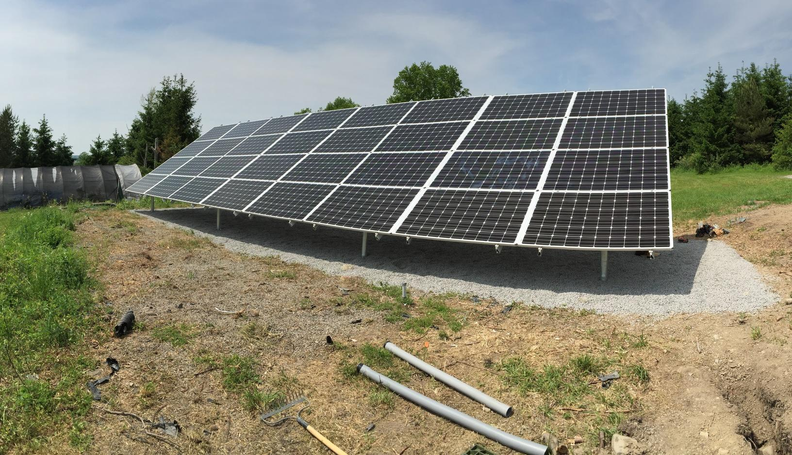 Ground-Mounted Solar Array in Moravia, NY - After Photo