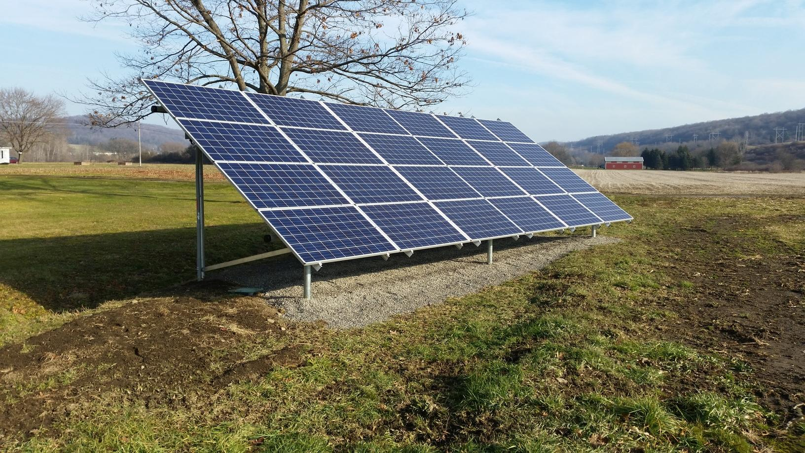 Ground-Mounted Solar Array in Cortland, NY - After Photo