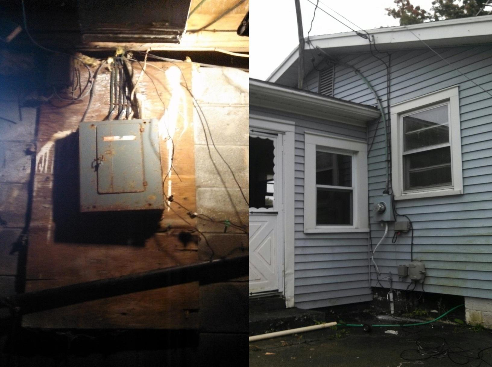 New Electrical Service in Sodus, NY - Before Photo