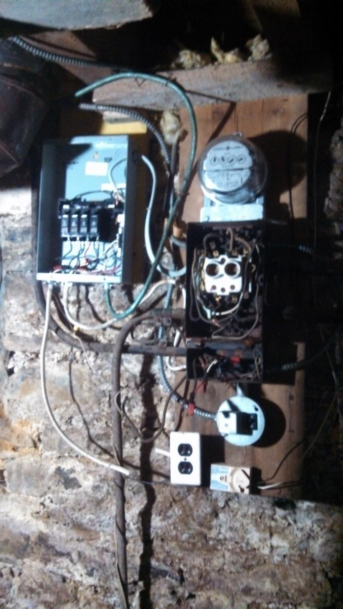 Electrical Panel Box Replacement in Ithaca, NY - Before Photo