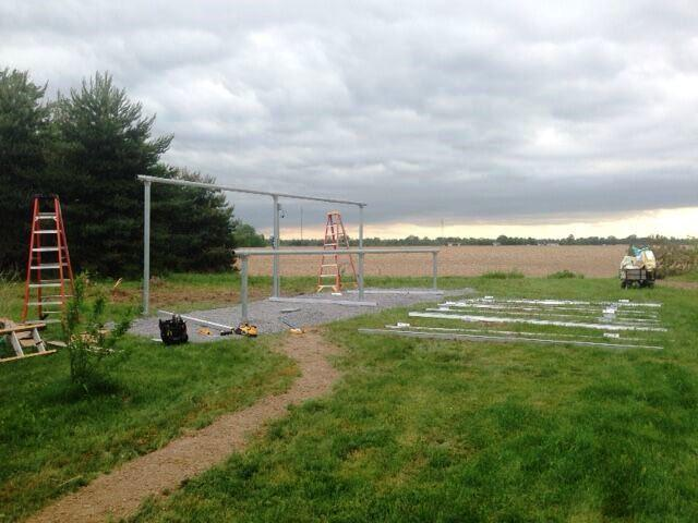 Ground-Mounted Solar Installation in Waterloo, NY - Before Photo