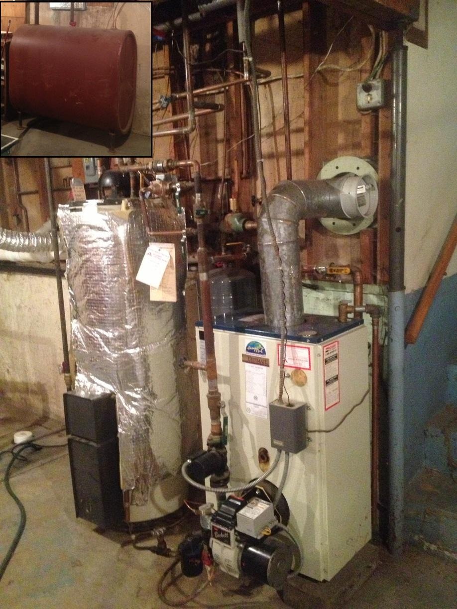 Navien Water Heater Installation In Ithaca, NY - Before Photo
