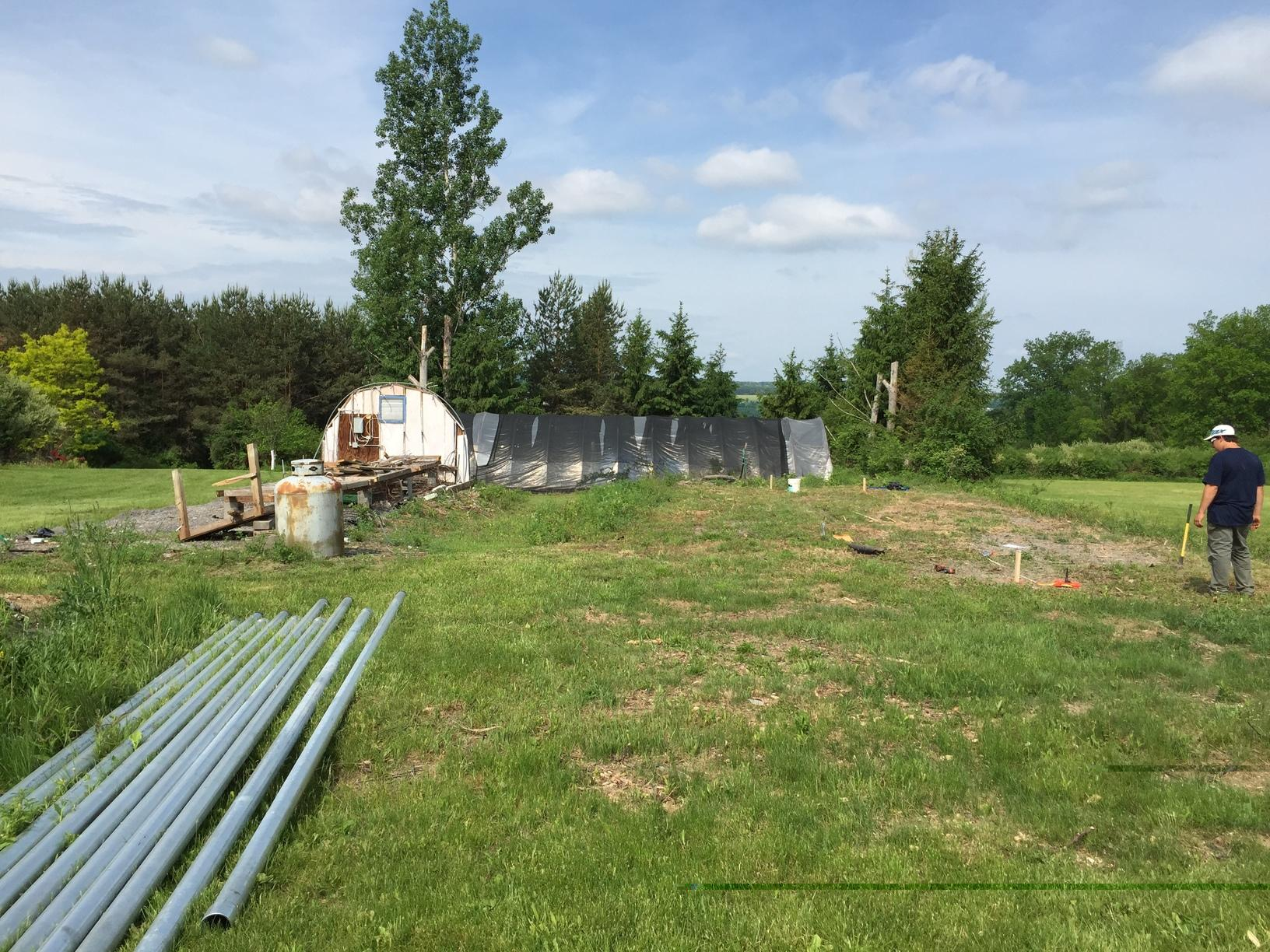 Ground-Mounted Solar Array in Moravia, NY - Before Photo