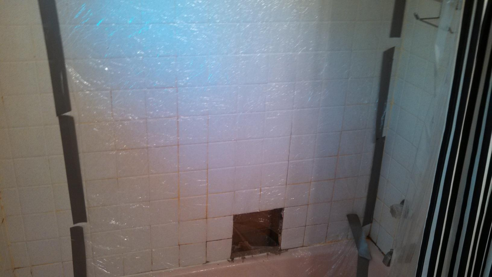 New Tub Surround Installation in Ithaca, NY - Before Photo