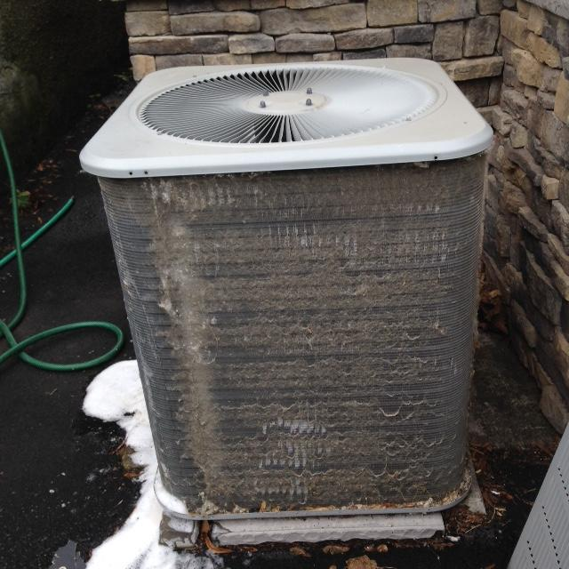 A/C Service in Ithaca, NY - Before Photo