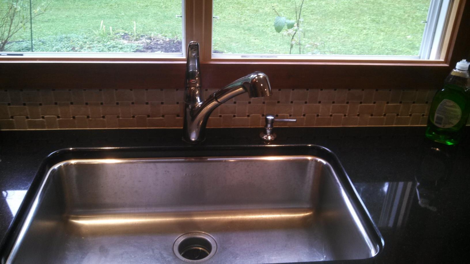 Kitchen Faucet Replacement in Ithaca, NY - Before Photo