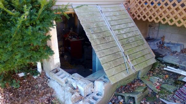 Cayuga, NY Bilco Door Replacement - Before Photo